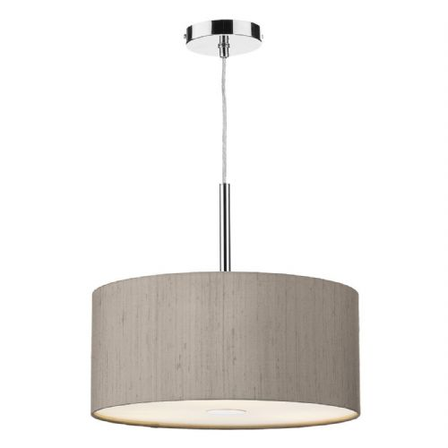 Ellington 40cm Pendant Light Chrome with Shade (choose colour) ELL10 (Hand made, 10-14 day Del)